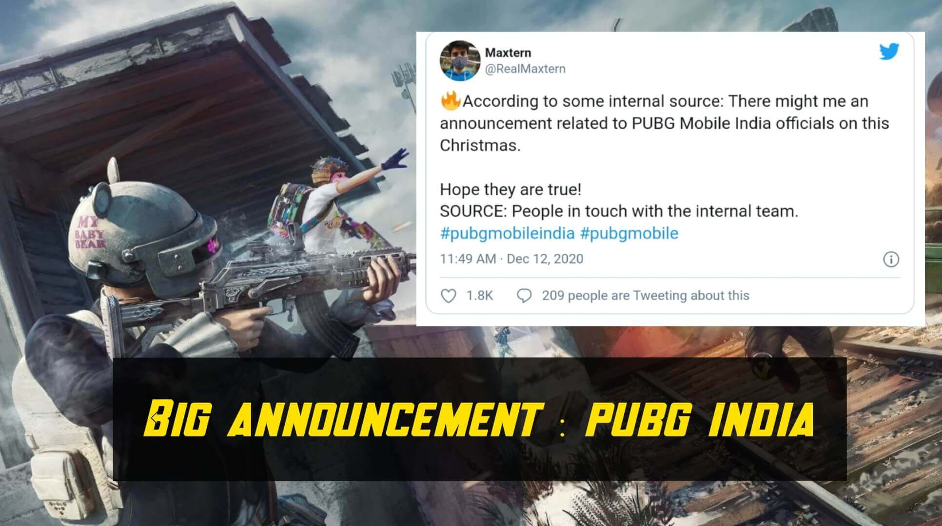 Big announcement of PUBG mobile on Christmas